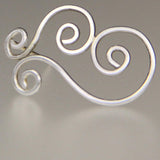 Sterling silver rhythmic double scroll stud earrings gifts Free US Shipping handmade Anni Designs - Anni Designs