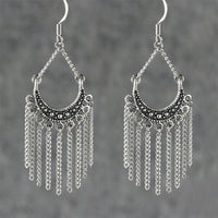 Chandelier chain hoop Earrings Bridesmaids gifts Free US Shipping handmade Anni Designs - Anni Designs