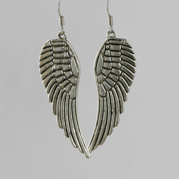 Feather shaped Earrings Free US Shipping handmade Anni Designs - Anni Designs
