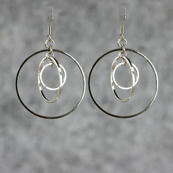 Triple hoop earrings Bridesmaids gifts Free US Shipping handmade Anni Designs - Anni Designs