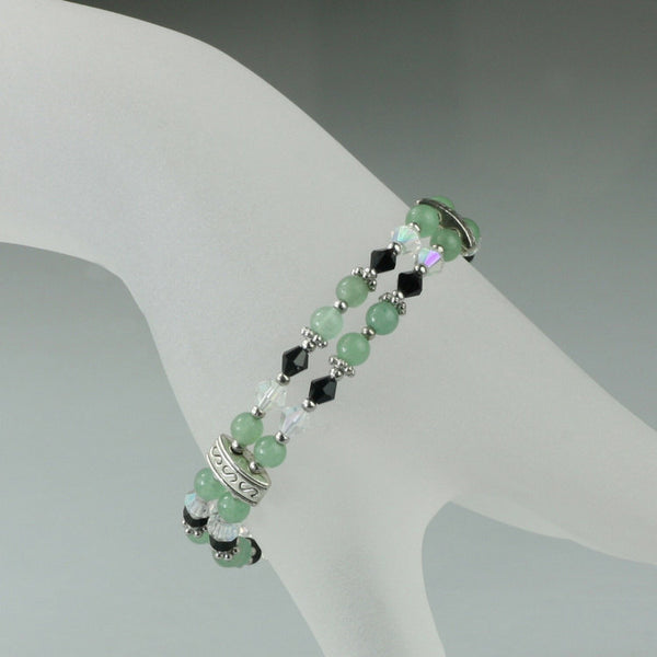 Jade Layered double strand Bracelet bridesmaids gifts Free US Shipping handmade Anni Designs - Anni Designs