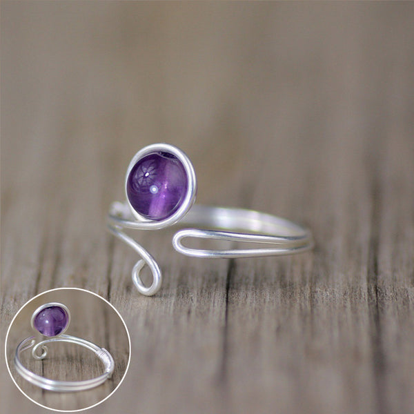 Sterling silver amethyst ring Bridesmaids gifts Free US Shipping handmade anni designs - Anni Designs