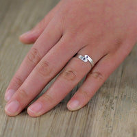 Sterling Silver personalized monogram ring  Free US Shipping handmade anni designs - Anni Designs