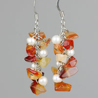 chunky gemstone chips dangling chandelier earrings bridesmaids gifts Free US Shipping handmade Anni Designs - Anni Designs