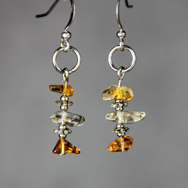 5.99-9.99 dollars Citrine chips drop earrings Bridesmaids gifts Free US Shipping handmade Anni Designs - Anni Designs
