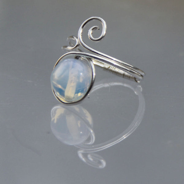 Moonstone sterling silver Ring Sterling silver Bridesmaids gifts Free US Shipping handmade anni designs - Anni Designs