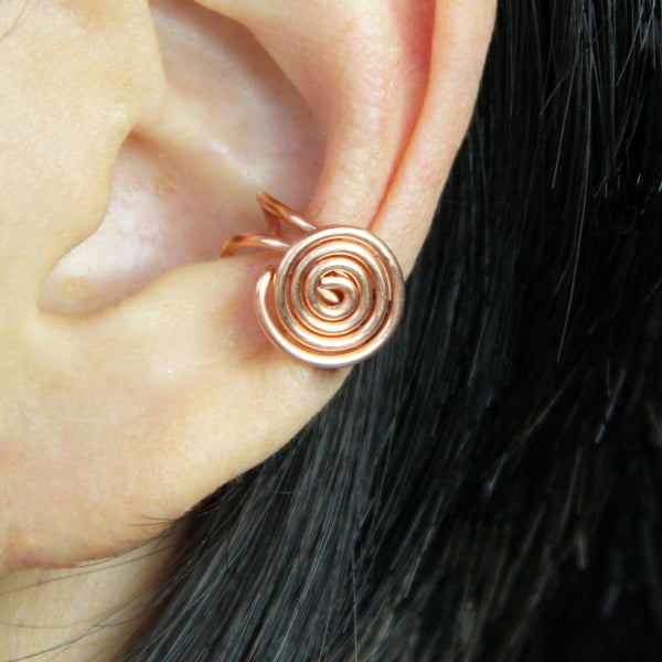 5.99-9.99 dollars Simple Copper scroll ear cuff handmade US free shipping Anni Designs - Anni Designs