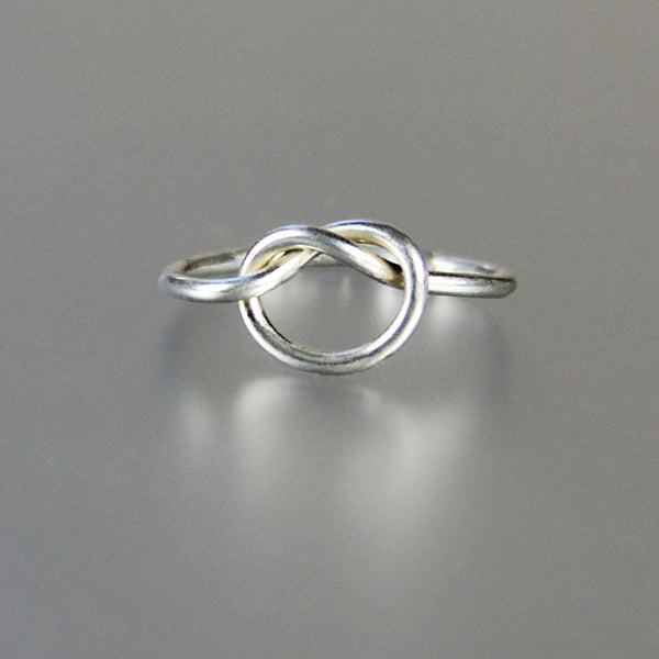 Sterling silver simple heart ring Bridesmaids gifts Free US Shipping handmade Anni Designs - Anni Designs