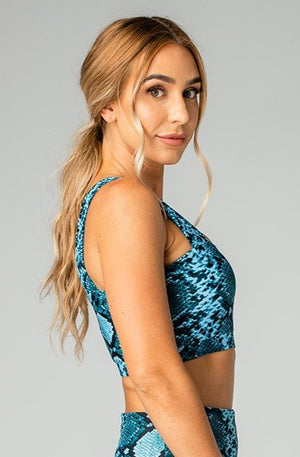 Kayla Medium Support Sports Bra - Blues