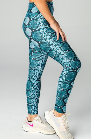 Michaels High-Rise Waist Leggings - Blues