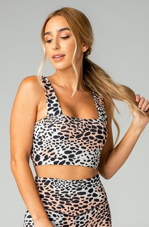 Kayla Medium Support Sports Bra - Cheetah