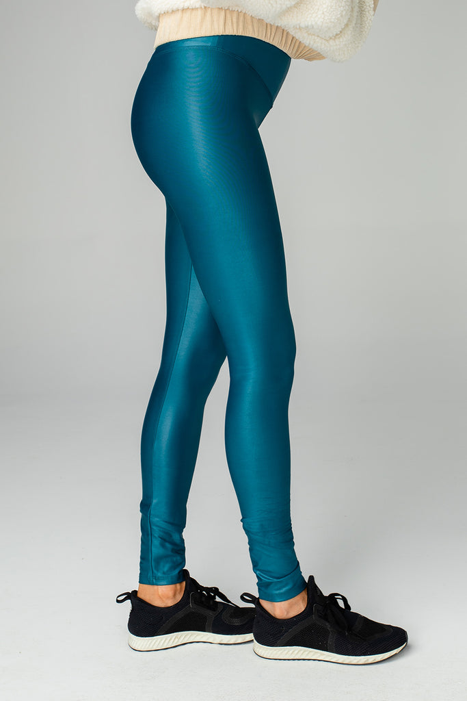 Jillian Lustrous High-Waisted Athletic Pant - Teal