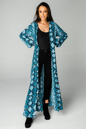 Stoney Long Sleeved Duster - Blues