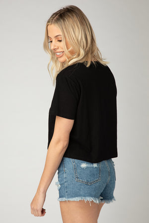 Andy Cropped Tee - Black