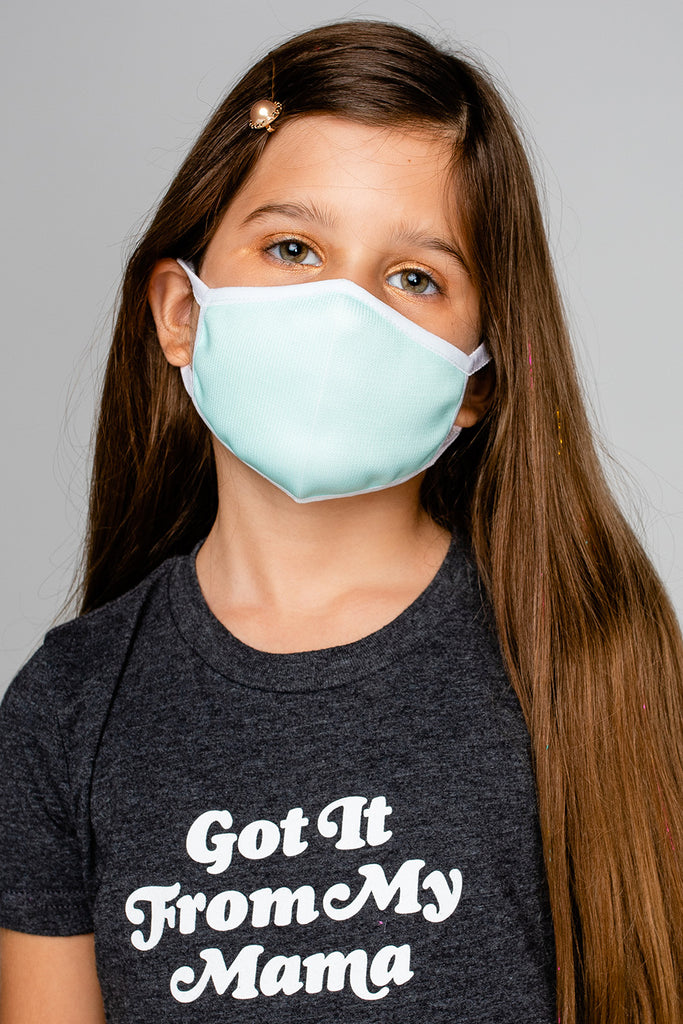 Reusable Kids Face Mask Seafoam