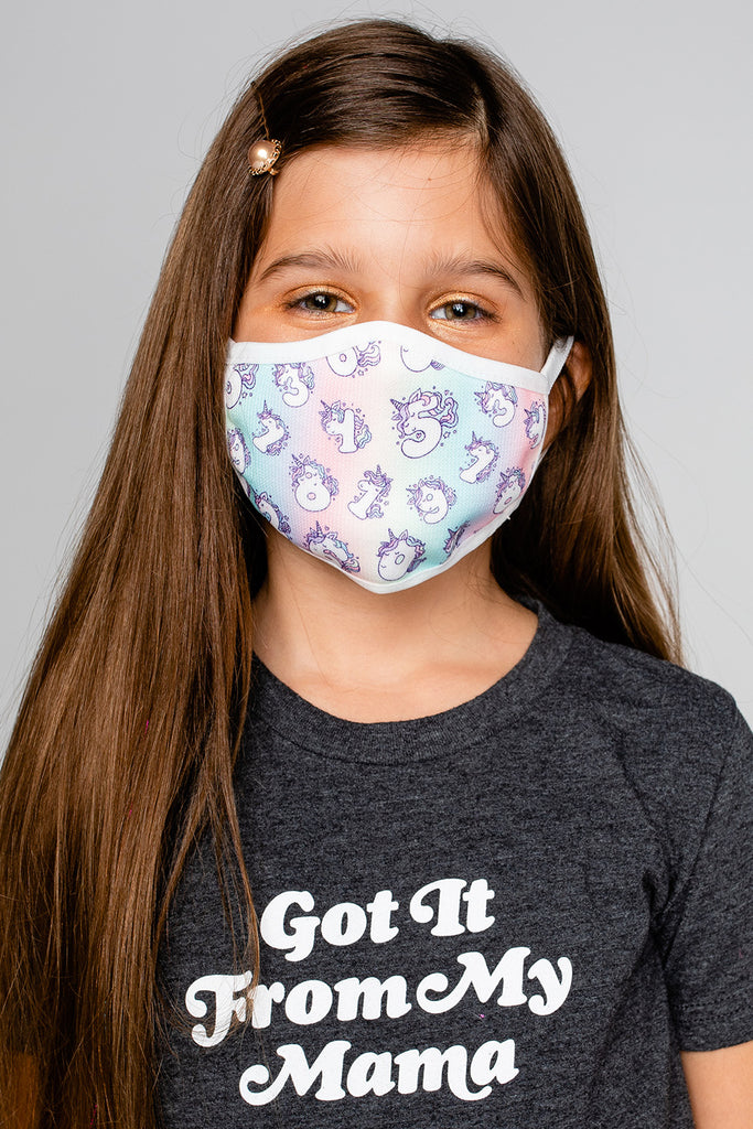 Reusable Kids Face Mask Unicorns