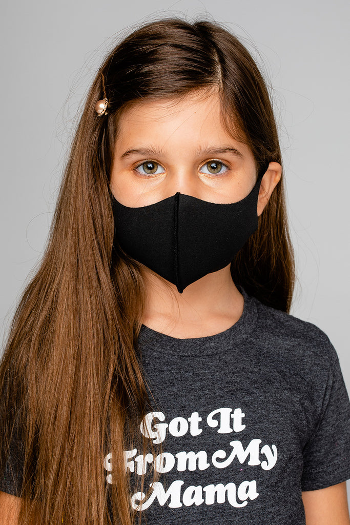 3D Anti-Bacterial Kids Face Mask - Black