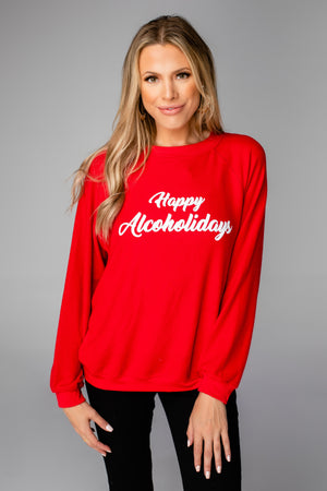 Gene Graphic Sweatshirt - Happy Alcoholidays