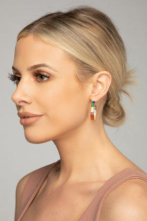 Cabo Rainbow Hoop Earring - Multi