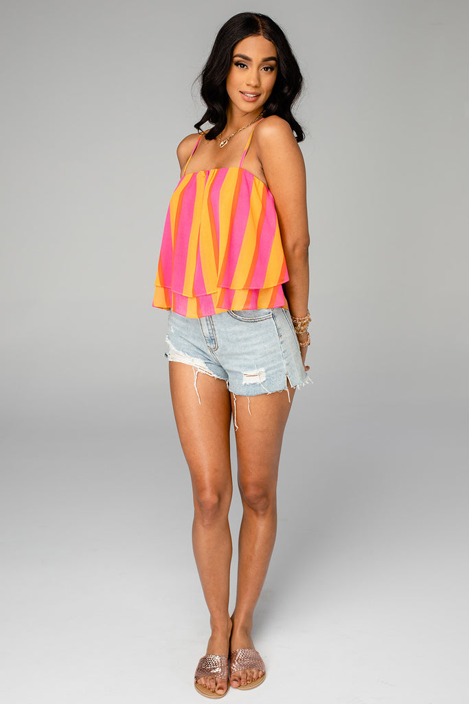 Geena Short Swing Tank Top - Fruity Pebbles