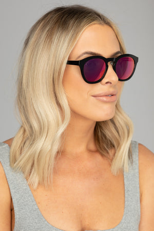 Val Acetate Framed Sunglasses - Pink