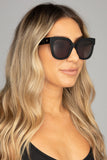 Heather Oversized Sunglasses - Black