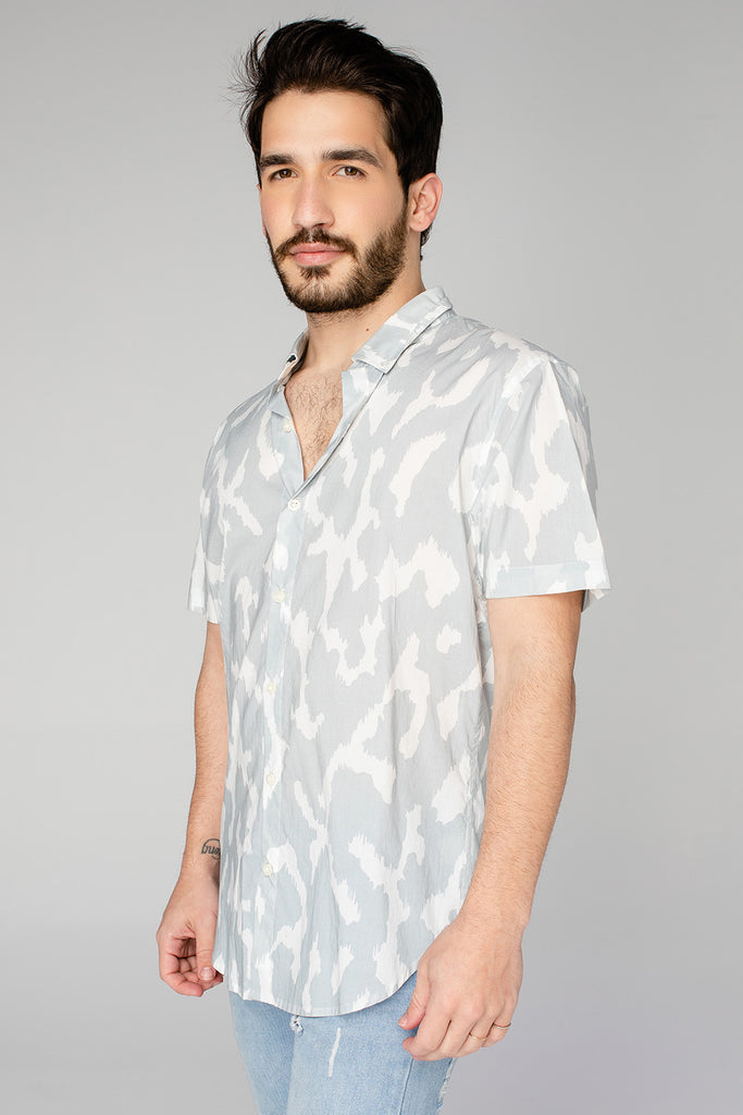 Robert Button Down Dress Shirt - Slate