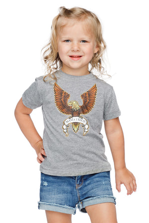 Selena Heathered Grey Kids Graphic Tee - Mama Tried