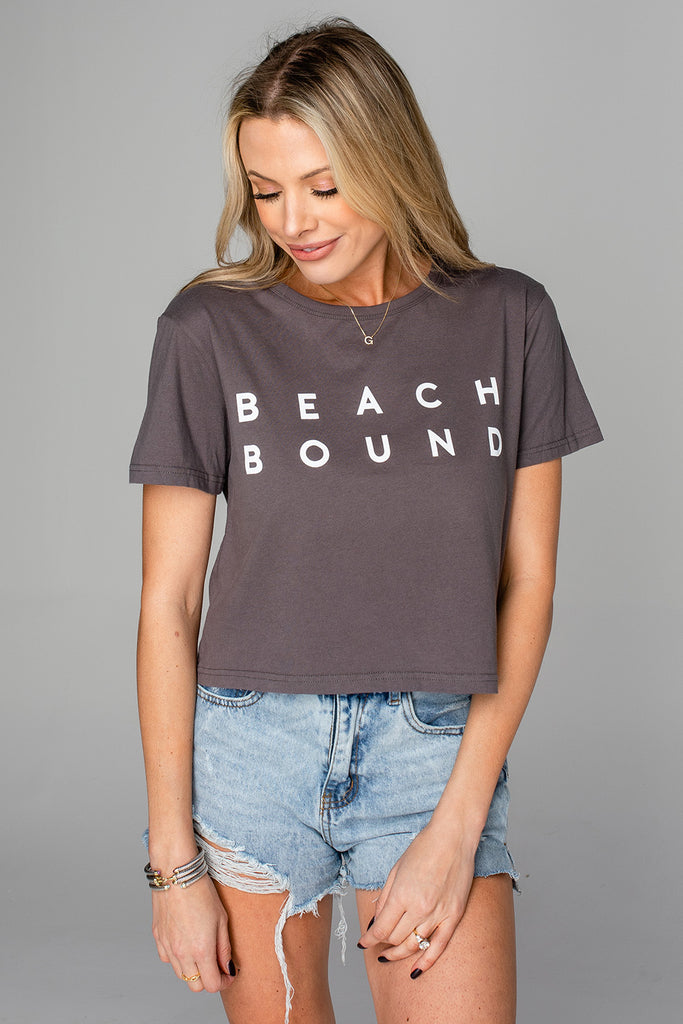 Aaron Cropped Graphic Tee - Beach Bound