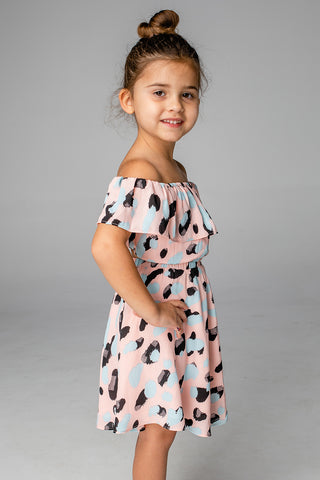 Ainsley Girl's Top and Skirt - Malibu