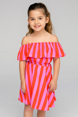 Ainsley Girl's Top and Skirt Set - Hot Tamale