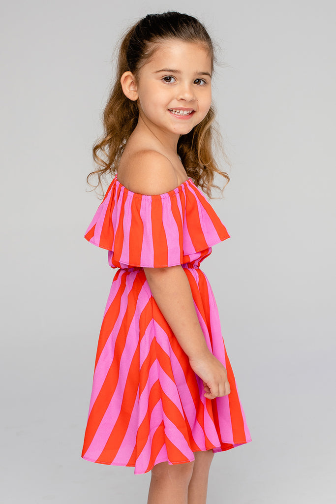 Ainsley Girl's Top and Skirt Set - Hot Tamale (Pre-Order)