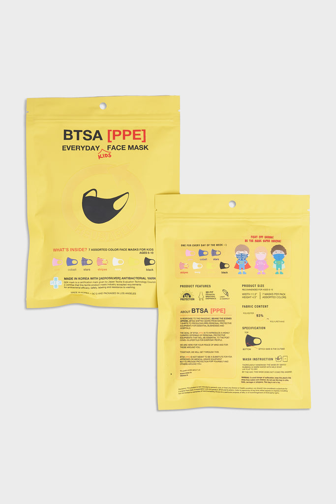 BTSA Everyday Kids Face Mask - 7 Count