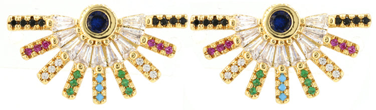 Babe Embellished Stud Earrings - Gold