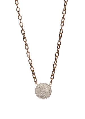 Beverly Coin Necklace - Gold