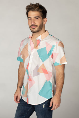Robert Button Down Dress Shirt - Origami