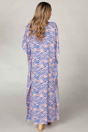 Miller Short Sleeve Maxi Dress - Blue Tiger