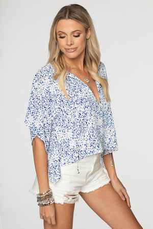 Dave Short Sleeve Swing Top - Spotted