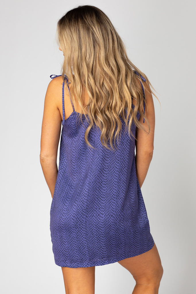 Tobin Tie Shoulder Mini Dress - Horned Frog
