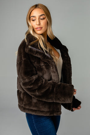 Charlie Puffy Fur Jacket - Mink