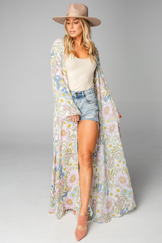 BuddyLove Stoney Long Sleeved Duster - Flower Power