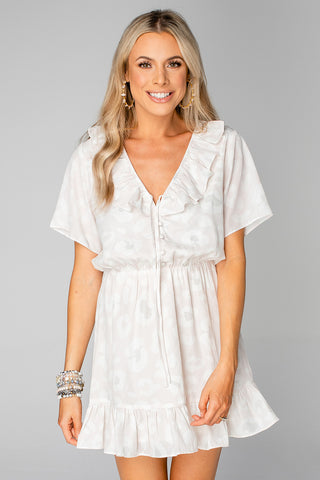 BuddyLove Trixy Ruffled Mini Dress - Vanilla