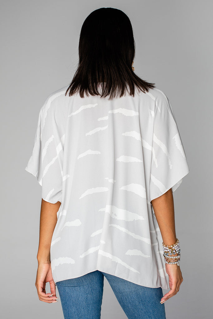 North Tunic - Grey Zebra