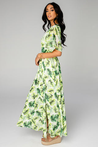 Evelyn Short Sleeve Maxi Dress - Maui (Pre-Order)