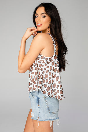 Athena Flowy Cropped Tank Top - Mufasa (Pre-Order)