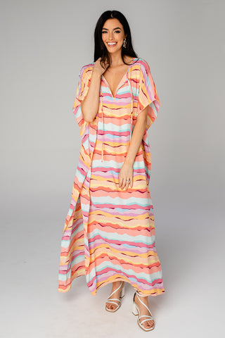 Cora Caftan Maxi Dress - Kaleidoscope (Pre-Order)