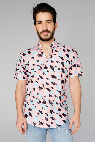 Robert Button Down Dress Shirt - Malibu