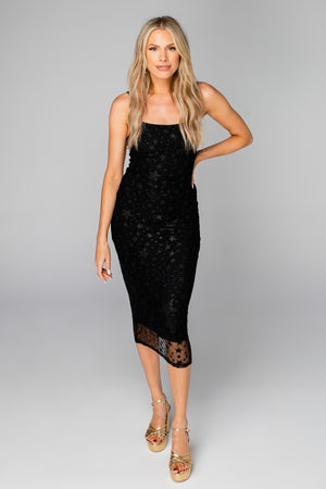 Madison Fitted Midi Dress - Twinkle