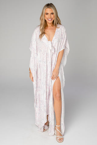 Mamie Caftan Maxi Dress - Quartz