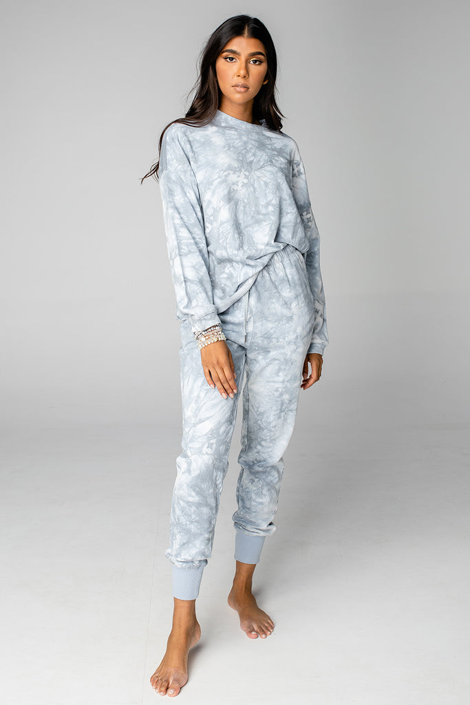 BuddyLove Brooke Sweatsuit Set - Grey Clouds